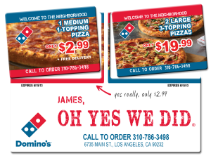 Dominos-Mailer